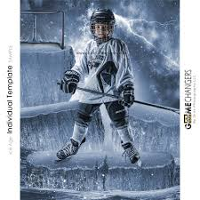 hockey templates for photoshop ice age photoshop template game changers by shirk photography llc