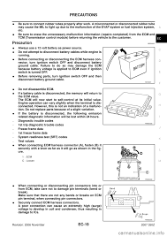 nissan armada battery terminal nissan 350z 2007 z33 engine control workshop manual
