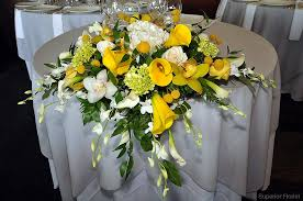 flower table superior florist event florals sweetheart tables