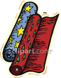 rolls of wrapping paper wrapping paper rolls clipart