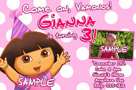 2nd Birthday Invitation Card Dora Explorer Birthday Invitations Ideas U2013 Bagvania Free Printable