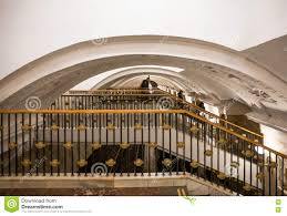 staircase in moscow metro stock photo image 74883865