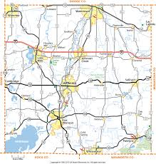 Wisconsin State Map by Jefferson County Wisconsin Map