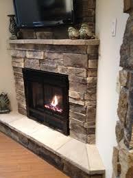 home decor amazing stone corner fireplace luxury home design