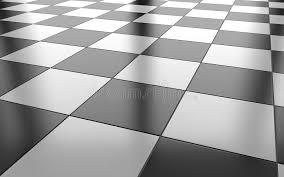 black and white glossy ceramic tile floor background 3d renderi