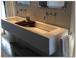 bathroom trough sink with 2 faucets sinks and faucets home