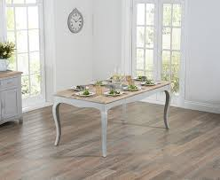 parisian 175cm grey shabby chic dining table with chairs and