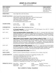 Sample Fitness Resume by Example Resume Airline Pilot Resumes Template Military Pilot