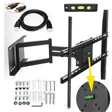 tv wall mount swing out buy lumsing universal corner tv wall mount bracket with full