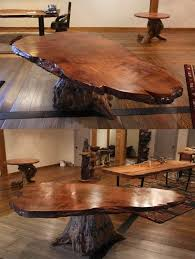 tree trunk dining table rustic table live edge table wood table including contemporary