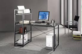 Small Laptop And Printer Desk by Amazon Com Techni Mobili Modern Smokey Gray Tempered Glass Top