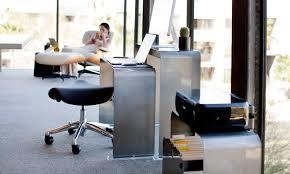 oneless minimalist computer desk