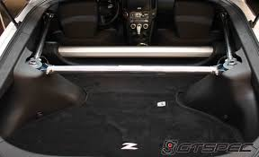 nissan 370z gt specs gtspec 4 point rear strut bar b pillar cage setup nissan 370z