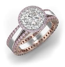 pink wedding rings pink diamond engagement rings from bez ambar