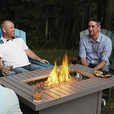 napoleon hampton rectangular liquid propane patioflame fire table