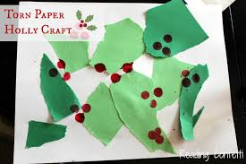 torn paper holly craft double fail reading confetti