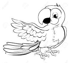 parrot clipart black and white many interesting cliparts