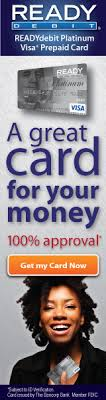 ready prepaid card visa prepaid card 100 guaranteed approval on top visa pre