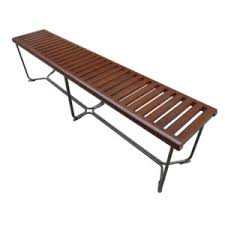 Wood Bench Metal Legs Benches And Ottomans U2013 City Schemes Contemporary Furniture
