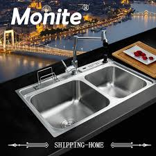 kitchen sink with faucet set swivel 360 deck mounted faucet kitchen sink faucet set sink faucet