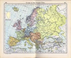 Map Of Time Of Europe In 1911