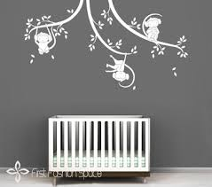 Nursery Monkey Wall Decals Monkey Stickers For Nursery Thenurseries