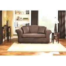 sure fit stretch leather 2pc sofa slipcover brown www