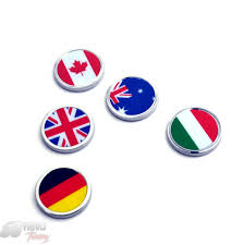 England Flag Colors Car Badge Canada Germany Italy Australia England Flag Emblem Metal