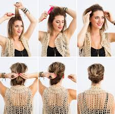 hairstyles easy to do for medium length hair use a headband and a few bobby pins to diy this u0027do beauty from