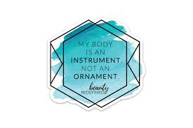 instrument not an ornament sticker redefined