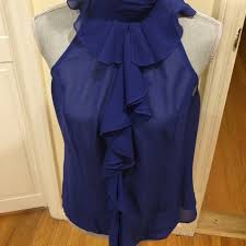 royal blue blouse top 70 tops ruffle sleeveless blouse in royal blue from