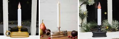 window candles decoration bringing light to the