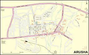 Tanzania Map Arusha Town Map Arusha Tanzania U2022 Mappery