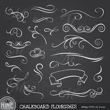 Pinterest Chalkboard by Chalkboard Clip Art Chalk Flourishes Clipart By Mninedesigns