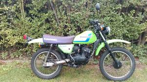 kawasaki ke100 b13 green laner trials scrambler light weight low