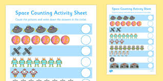 my counting activity sheet space counting worksheet space
