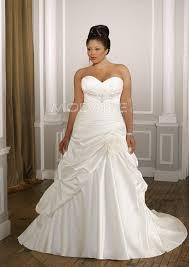 robe de mariã e ronde bustier robe de mariée grande taille satin longueur au sol sans