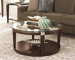 coffee table brown leather ottoman chair with coffee round
