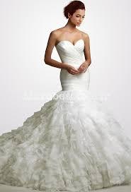 robe sirene mariage robe de mariée bustier finement plissé forme sirène