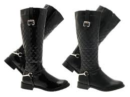 womens quilted boots uk black quilted wide calf boots boot end
