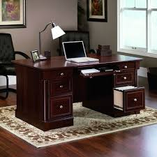 Office Desks Furniture by Amazon Com Sauder Palladia Executive Desk Cherry Kitchen U0026 Dining