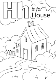 letter h is for house coloring page free printable coloring pages
