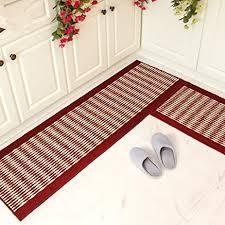 amazon com ustide kitchen rug set kitchen floor rug washable