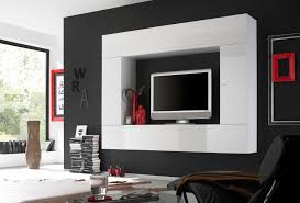 lacquered contemporary wall unit with plenty storage space this