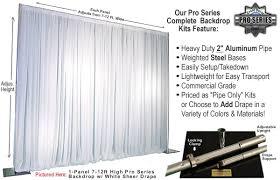 Pipe And Drape Hooks 8 Panel Kits 56 96 Feet Wide