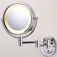 furniture round steel wall mirror with light the most embellish