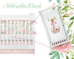 Floral Crib Bedding Sets Coral Mint Crib Baby Bedding Crib Set Baby Bedding