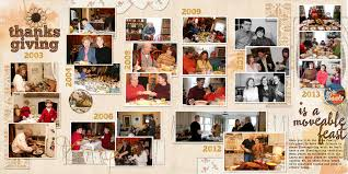 ideas for telling scrapbook page stories about thanksgiving then