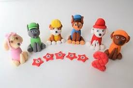 paw patrol edible figures cake toppers personalised birthday