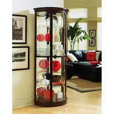 glass corner curio cabinet contemporary living room with glass corner curio cabinet black soft